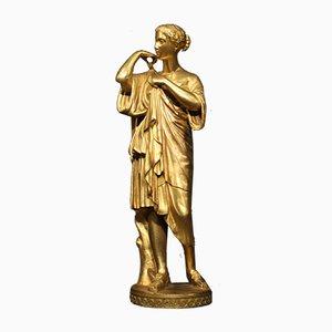 Escultura francesa de bronce dorado, siglo XIX