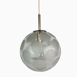 Glass Globe Pendant from Doria Leuchten, 1970s