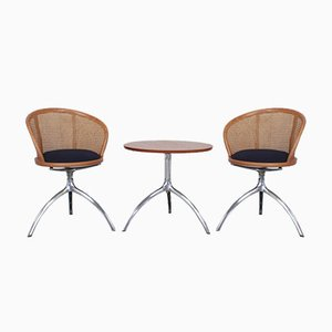 Alias Young Lady Chairs and Tree Table by Paolo Rizzatto, Set of 3