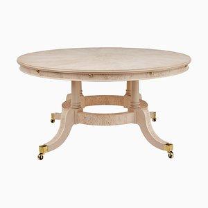 Burr Birch Circular Extending Dining Table