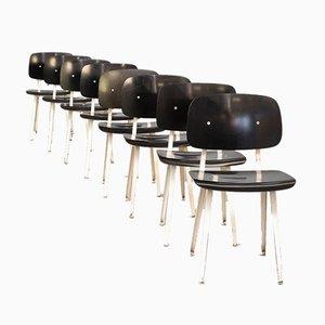 Revolt Stühle von Friso Kramer für Ahrend De Cirkel, 1950er, 8er Set