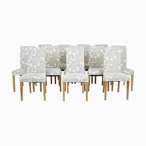 Oak Dining Chairs, Set of 12