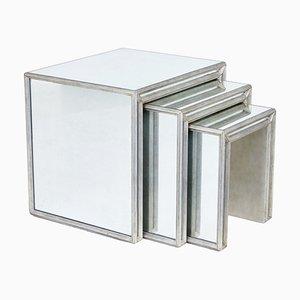 Mesas nido de espejo. Juego de 3