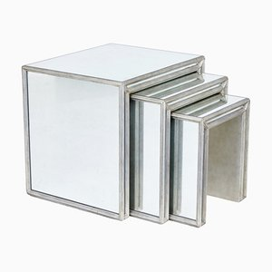 Mirrored Nesting Tables, Set of 3