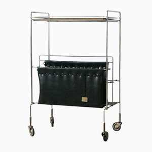 Mid-Century Trolley with Magazine Rack from Voss, 1960s