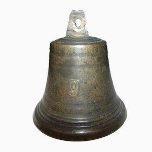 Pre-War Brass Bell for a Yacht, Ship Number 9