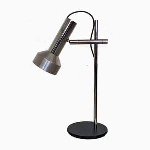 Vintage Desk Lamp in Aluminum and Chrome, 1970s