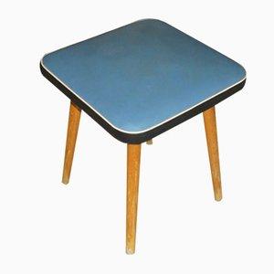 Sgabello in legno blu chiaro, anni '50