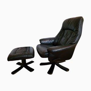 Scandinavian Leather Armchair from Skoghaugsindustri Norway, 1970s