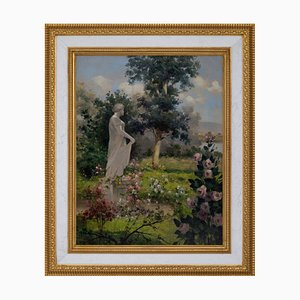 Antonio Celli, Giardino italiano, Italy, Oil on Canvas