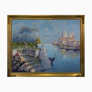 Antonio Celli, Giardino a Venezia, Italy, Oil on Canvas