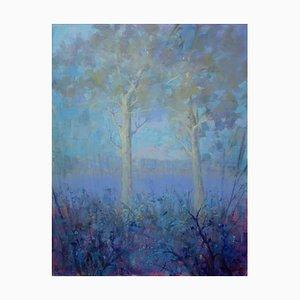 Alfonso Pragliola, Blue Metamorphosis, Huile sur Toile