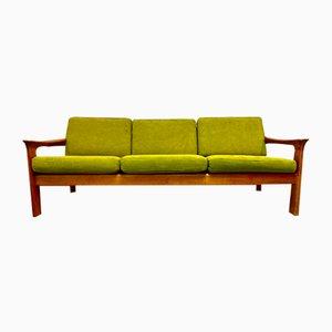 Skandinavisches Sofa in Khaki, 1950er