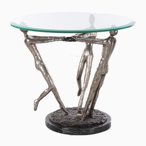 Coffee Table with Bronze Women, 1970s