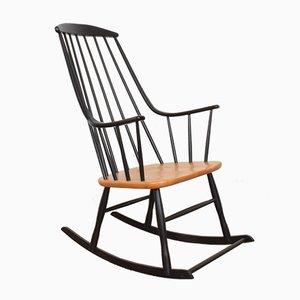 Mid-Century Swedish Rocking Chair by Lena Larsson for Nesto, 1960s
