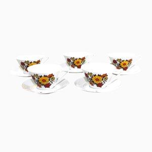 Kaffeetassen von Lilienporzellan, 1960er, 10er Set