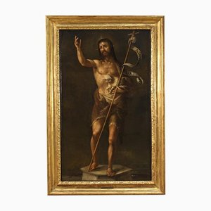 Antikes italienisches Gemälde von Johannes dem Täufer, 17. Jh