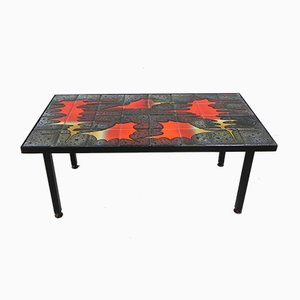 Vintage Tile Table with 32 Tiles