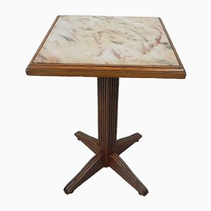 Bistro Table with Marble Top