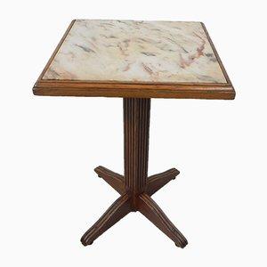 Tavolo da bistrò con ripiano in marmo