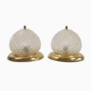Mid-Century Ceiling Lamp / Wall Light from Honsel, Set of 2, Germany, 1960s