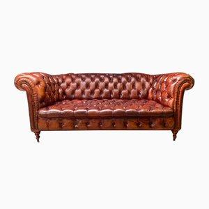Frühe 20. Jahrhundert Leder Chesterfield Sofa