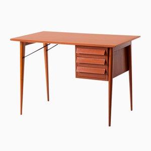Mesa de escritorio italiana de caoba, años 50