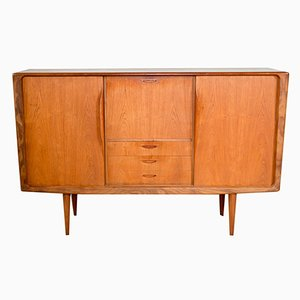 Danish Teak Highboard by H.W. Klein for Bramin, 1960s