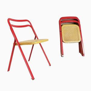 Plissierte Stühle von Clio G. Cattelan für Cidue, 1970er, 7er Set