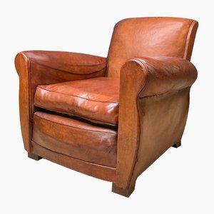 Club chair in pelle, Francia, anni '40