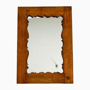 Mid-Century Wall Mirror in Teak