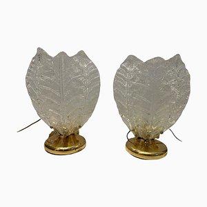 Lampes de Bureau en Verre de Murano, Set de 2