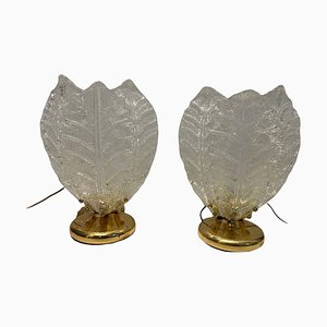 Murano Glass Table Lamps, Set of 2