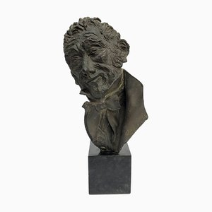 Bust in Bronze by Alessandro Manzoni for Dora Bassi, 1970s