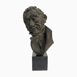 Busto de bronce de Alessandro Manzoni para Dora Bassi, años 70