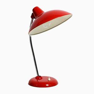 Rote Modell 6786 Tischlampe aus Metall von Kaiser Idell, 1960er