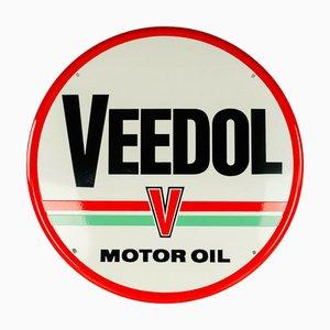 Cartel de Veedol esmaltado, años 50