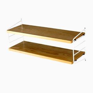 Elm Wood Wall Shelf by Kajsa & Nils Strinning for String, 1960s