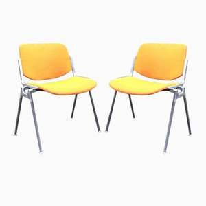 DSC 106 Chairs by Giancarlo Piretti for Castelli, Italy, Set of 2