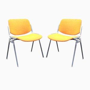 DSC 106 Stühle von Giancarlo Piretti für Castelli, Italien, 2er Set