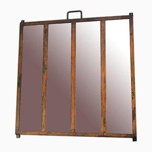 Industrieller Metall Spiegel mit Metallrahmen, 1930er