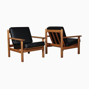 Oak Lounge Chairs by Poul Volther for Frem Røjle, Set of 2