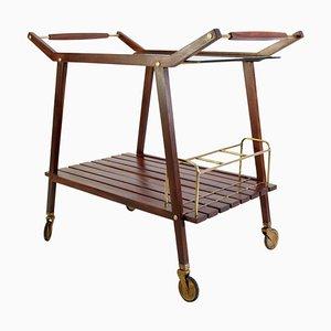 Mid-Century Italian Teak Bar Cart