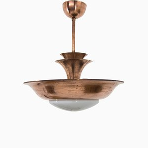 Bauhaus Copper Chandelier from IAS, 1930s