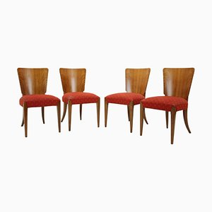 Model H-214 Dining Chairs by Jindrich Halabala, Set of 4