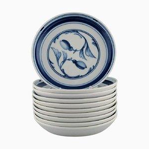 Corinth Plates in Porcelain from Bing & Grøndahl, 1970s, Set of 10