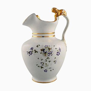 Antique Chocolate Jug in Porcelain with a Lion on the Handle from Gustafsberg