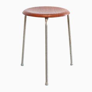 Teak Wooden 3170 Stool by Arne Jacobsen for Fritz Hansen