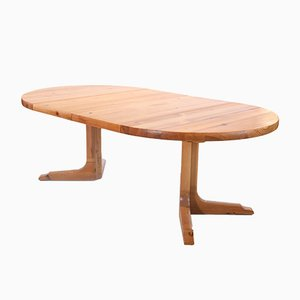 Round Extendable Dining Room Table from NC Mobler, Sweden