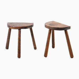 French Brutalistic Milk Stool